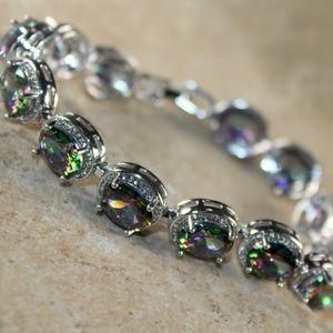 Jewelry - Mystic Rainbow Topaz Oval Bracelet